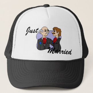 Grooms Middle Aged Trucker Hat