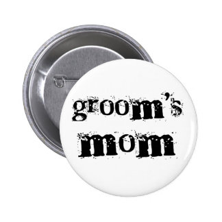 Groom's Mom Black Text Button