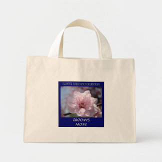 GROOM'S MOM! gift Tote Bag Wedding Party Blossoms