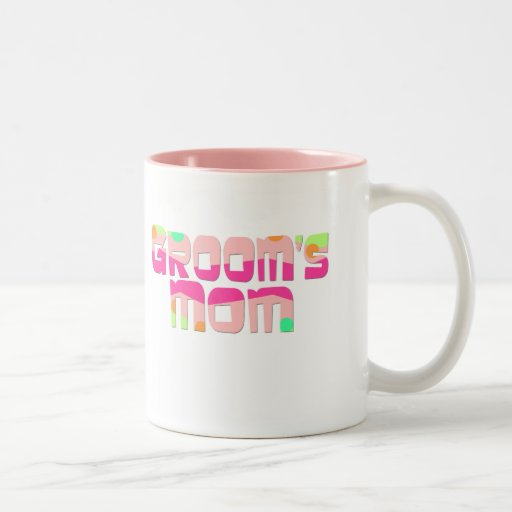 Groom's Mom Gifts and T-shirts Two-Tone Coffee Mug