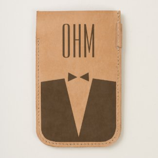 Groom's Monogrammed Phone Pouch
