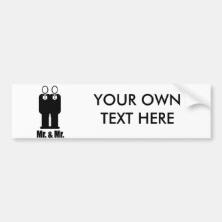 GROOMS MR. AND MR. -.png Car Bumper Sticker