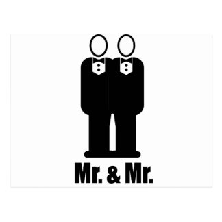 GROOMS MR. AND MR. -.png Postcard