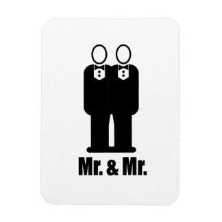 GROOMS MR. AND MR. -.png Rectangular Magnets