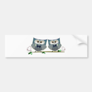 Grooms Owls Wedding Gifts Bumper Sticker