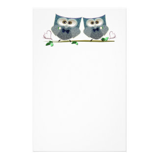 Grooms Owls Wedding Gifts Stationery