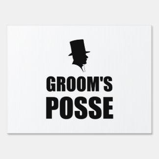 Grooms Posse Sign