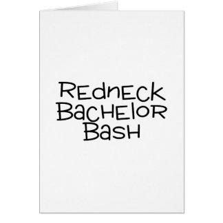 Grooms Redneck Bachelor Bash Card