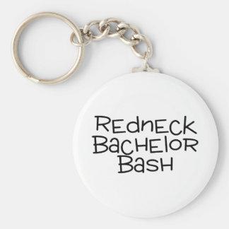 Grooms Redneck Wedding Bachelor Bash Keychain
