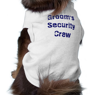 Groom's Security Crew Dog Pet Clothing