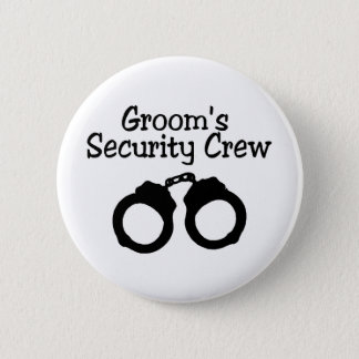 Grooms Security Crew Handcuffs Button