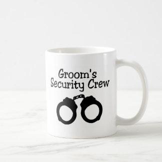 Grooms Security Crew Handcuffs Coffee Mug