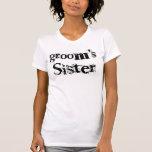 Groom's Sister Black Text T-Shirt