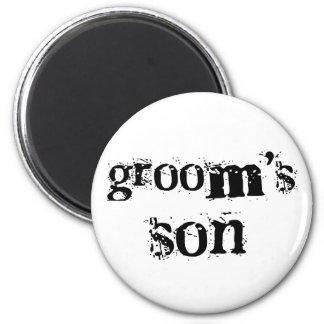 Groom's Son Black Text Fridge Magnets