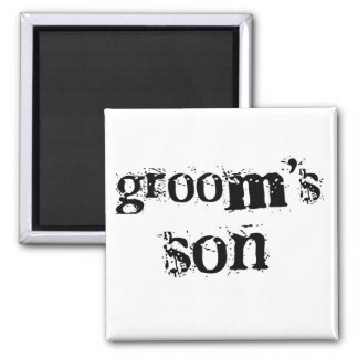 Groom's Son Black Text Magnet