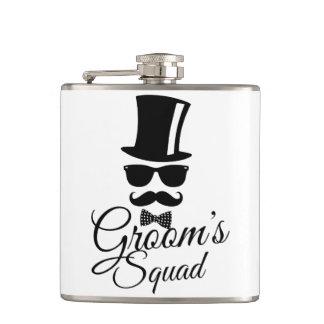 Groom's squad hip flask