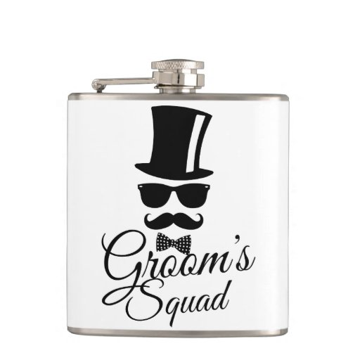 Groom's squad hip flask