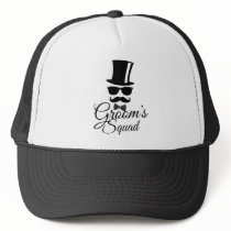 Groom's squad trucker hat