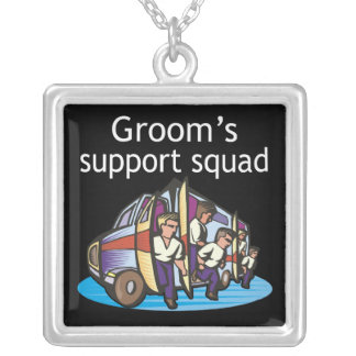 Groom's Support Squad Pendant