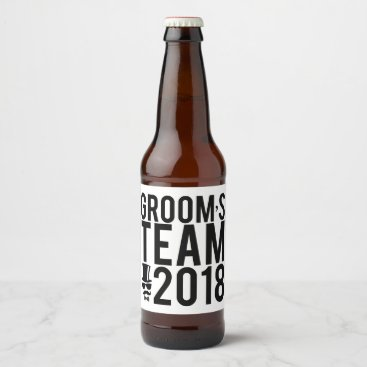 Bride Themed Groom's team 2018 beer bottle label
