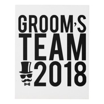 Bride Themed Groom's team 2018 panel wall art