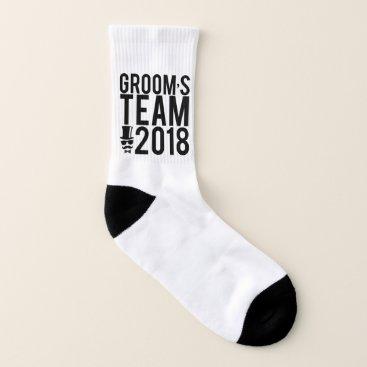 Bride Themed Groom's team 2018 socks