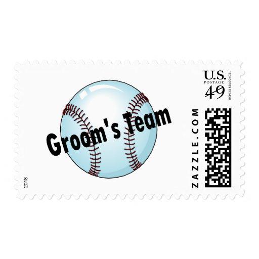 Grooms Team Baseball Stamp