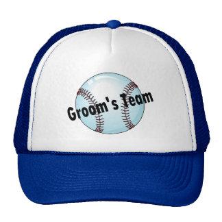 Grooms Team Baseball Trucker Hat