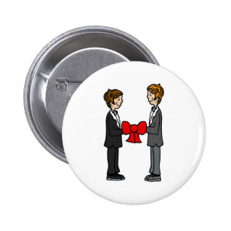 Grooms Tie the Knot Button