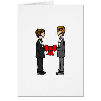 Grooms Tie the Knot Greeting Card