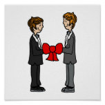 Grooms Tie the Knot Poster