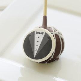 Groom's Tuxedo Wedding Favor Cake Pops