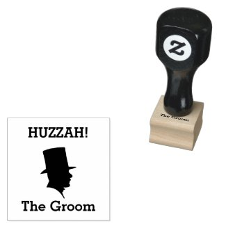 Groom's Wedding Invite or Thank You Card Stamp