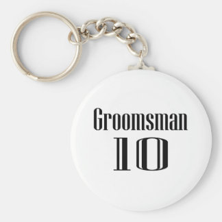 Groomsman 10 keychain