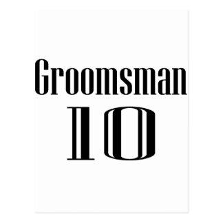 Groomsman 10 postcard