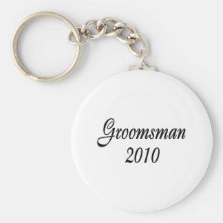Groomsman 2010 basic round button keychain