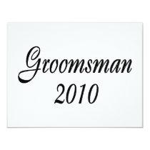 Groomsman 2010 card