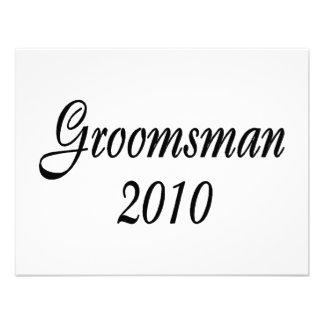 Groomsman 2010 announcements