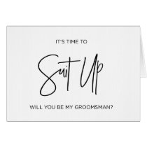 Groomsman Asking Card Will You Be My Groomsman