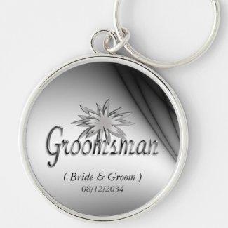 Groomsman Black and White Custom Keychains