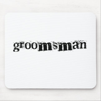 Groomsman Black Text Mouse Pad