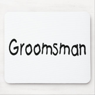 Groomsman (Blk) Mouse Pad