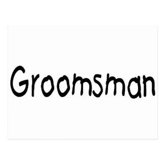 Groomsman (Blk) Postcard