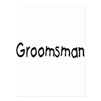 Groomsman (Blk) Postcards