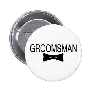 Groomsman Bowtie Pinback Button