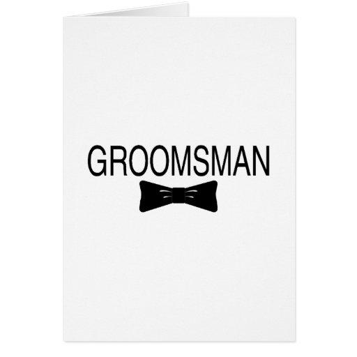 Groomsman Bowtie Card