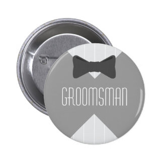Groomsman Bowtie & Stripes Button