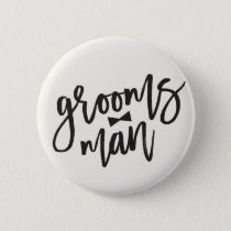 Groomsman Brush Bow Tie Wedding Party Button