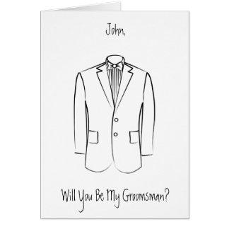 Groomsman card