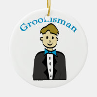 Groomsman Ceramic Ornament